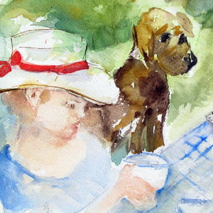 Tea Time - Aquarell - 38x28 cm.